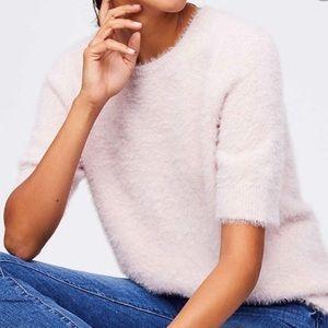 Loft Fuzzy pink sweater - XS Petite